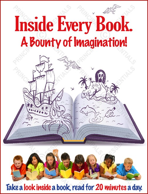 Inside Every Book. A Bounty of Imagination!