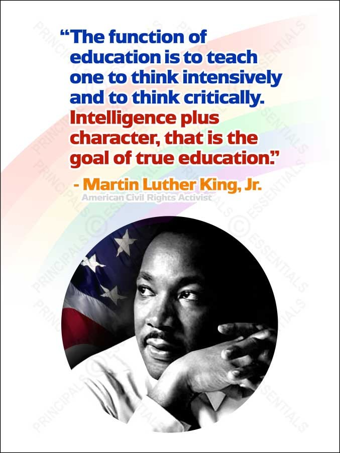 MLK Jr. Famous Quote Poster