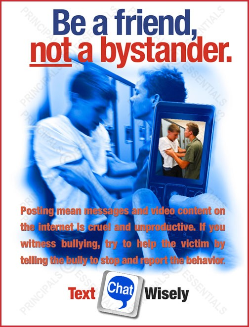 Be a friend, NOT a bystander Poster