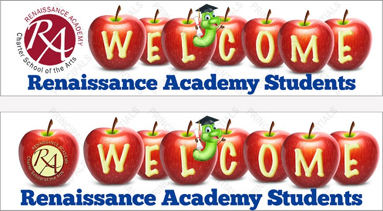 Renaissance Academy Welcome Banner with Logo