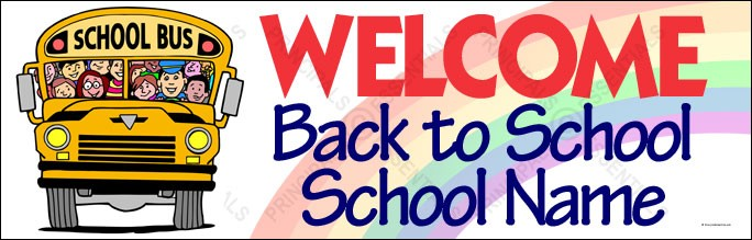 Custom School Welcome Bus Banner