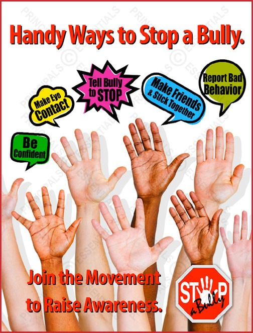 STOP-a-Bully Handy Ways Poster
