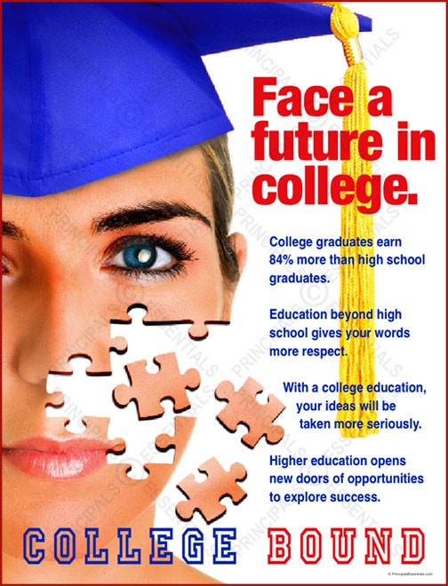 Face a Future in College Poster