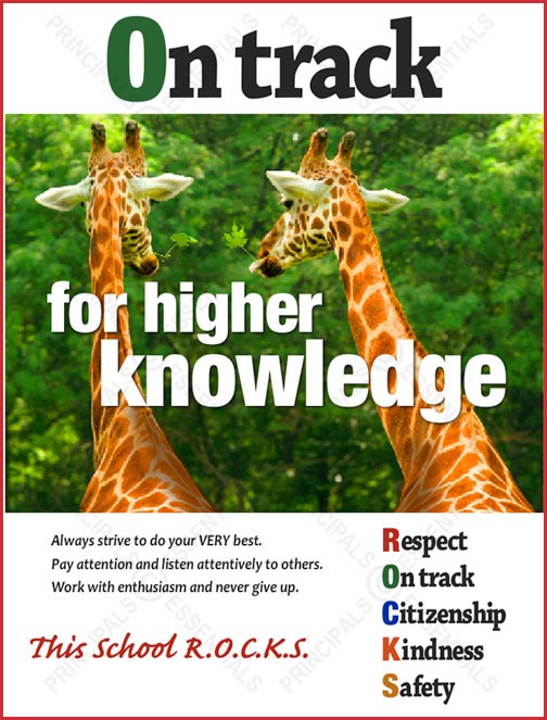 On track for higher knowledge Poster