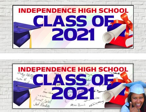 Signature Canvas Graduation Banner